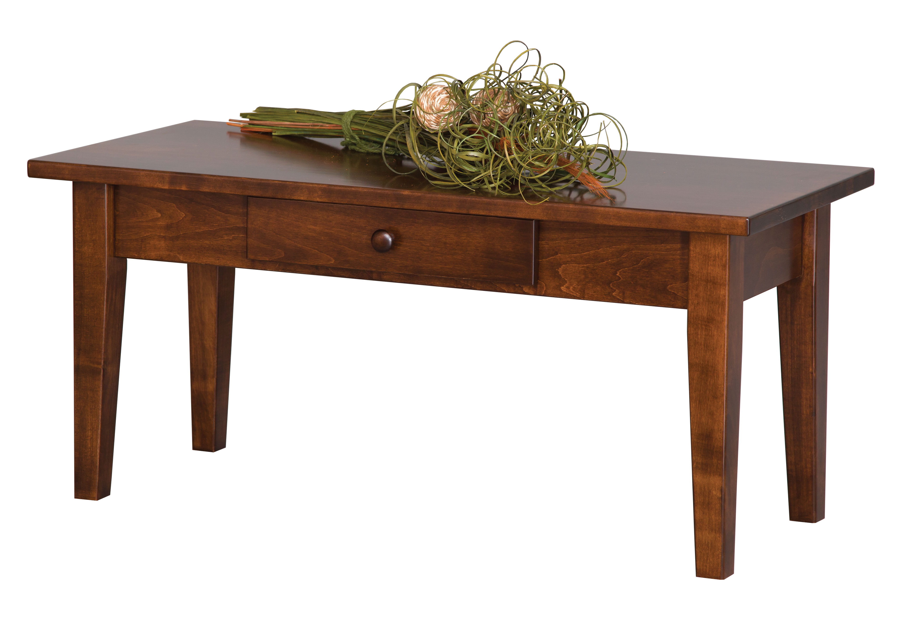 Shaker Coffee Table W Drawer Amish Furniture