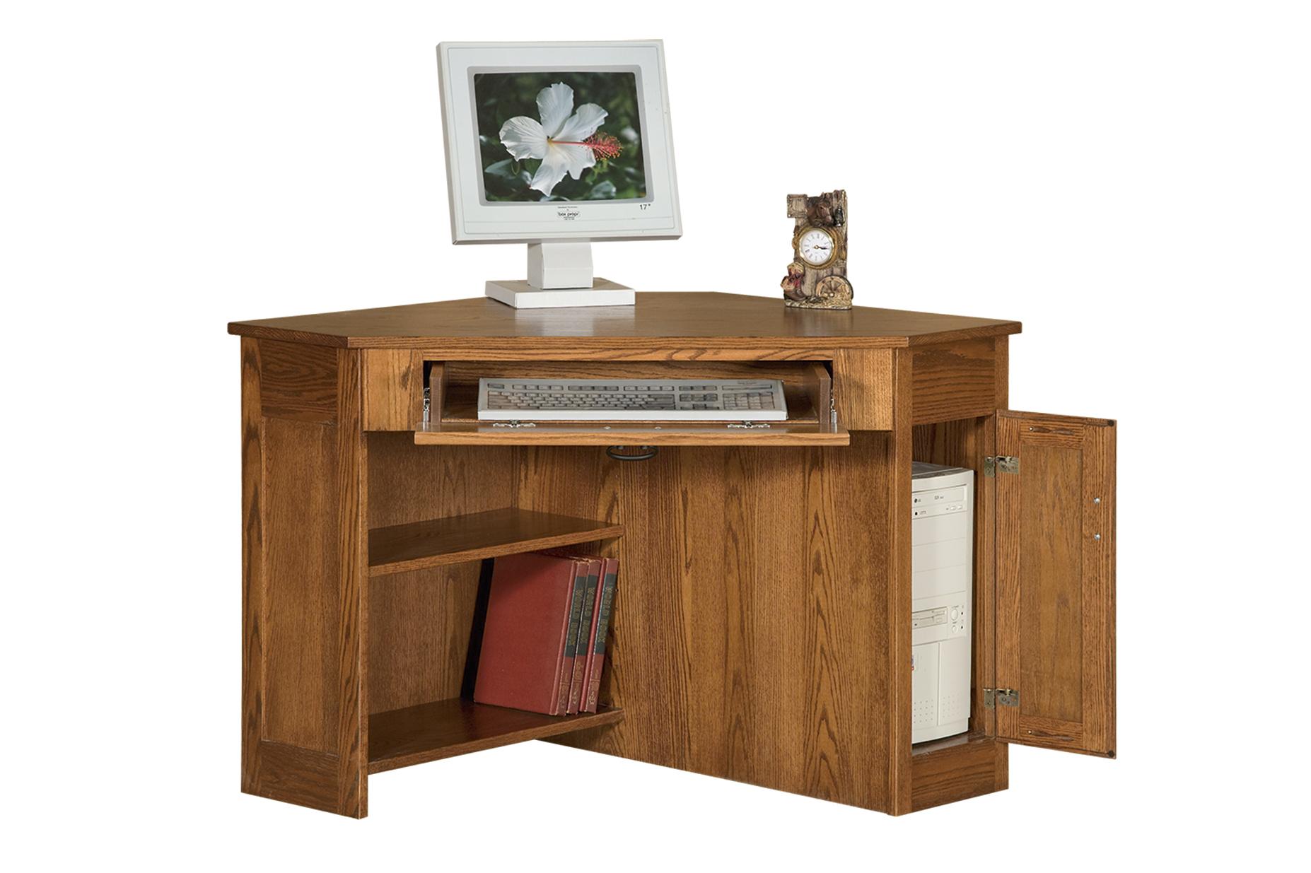 Corner Computer Desk Desks Amish Furniture Connections