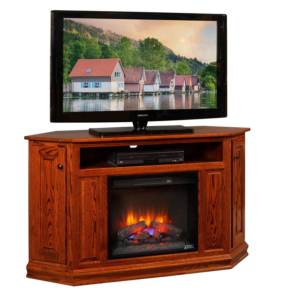 Corner Tv Stand With 23 Quot Fireplace Insert Amish