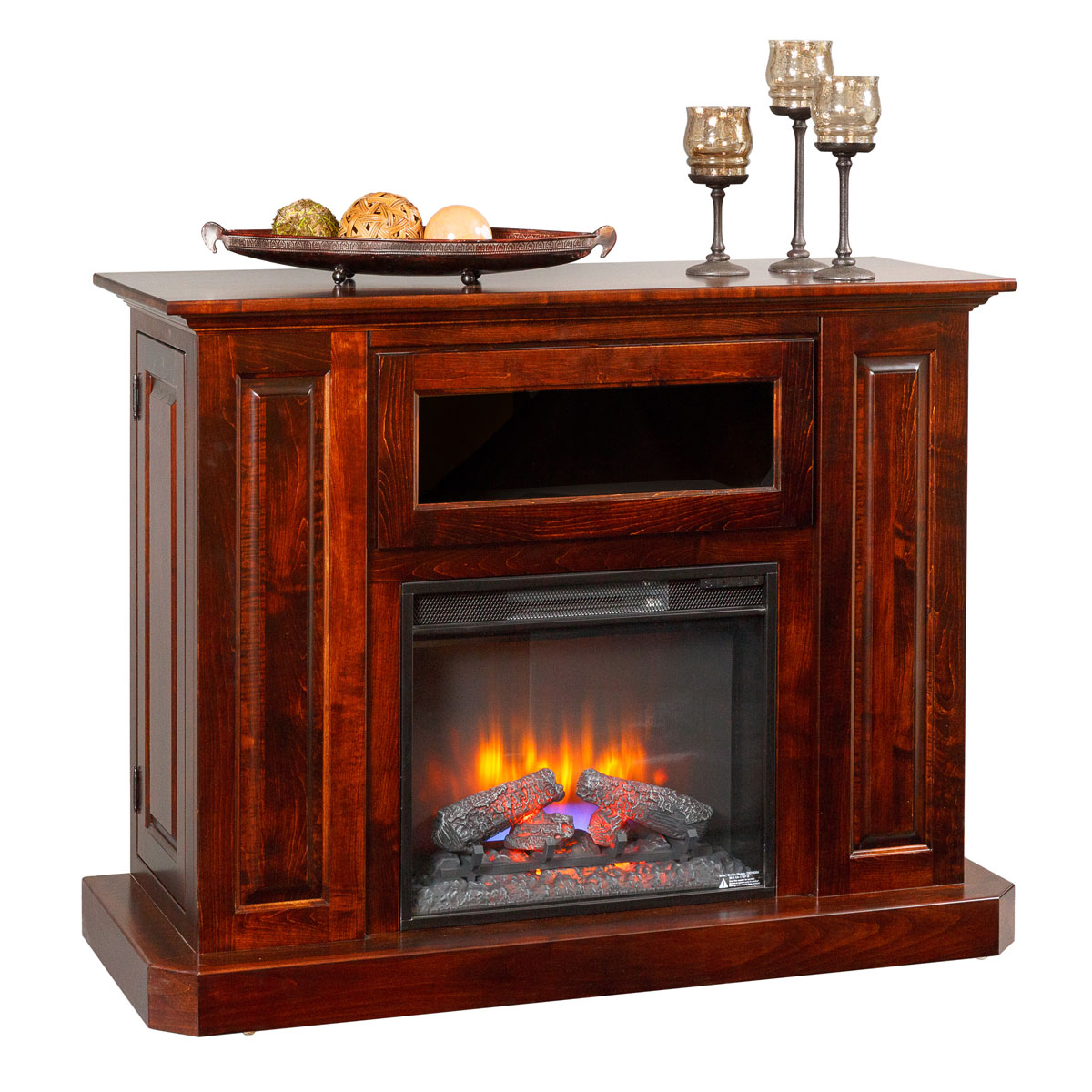 Deluxe Fireplace Entertainment Center Amish Furniture Connections Amish Furniture Connections