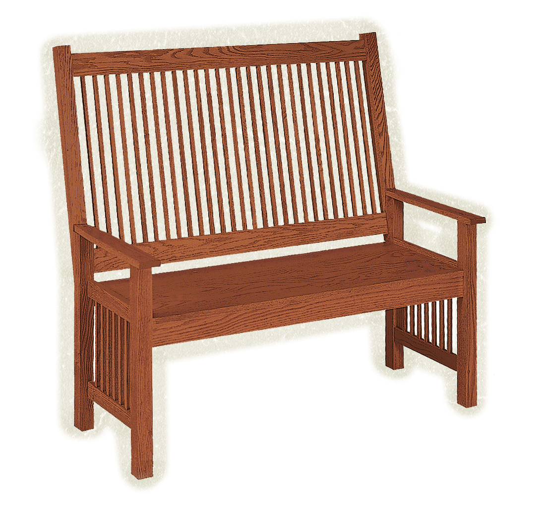 Deacon Bench - Amish Furniture Connections - Amish ...