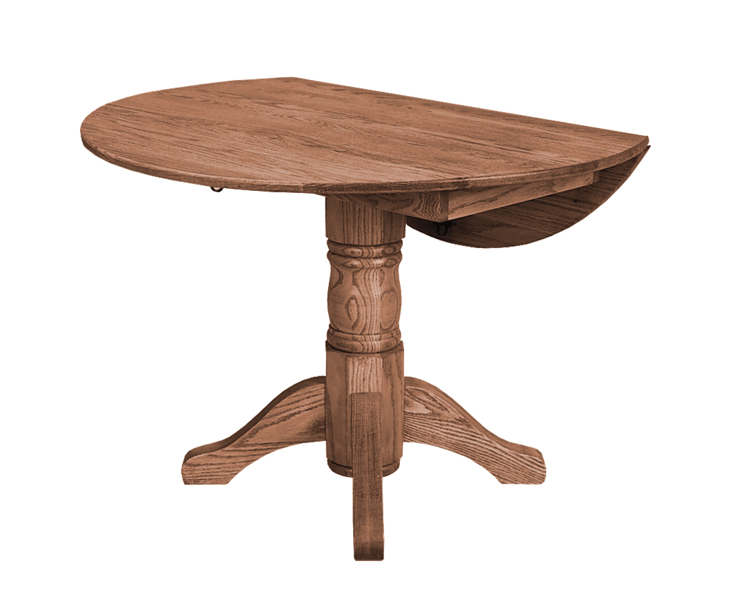 Round Drop Leaf Amish Furniture Connections Amish