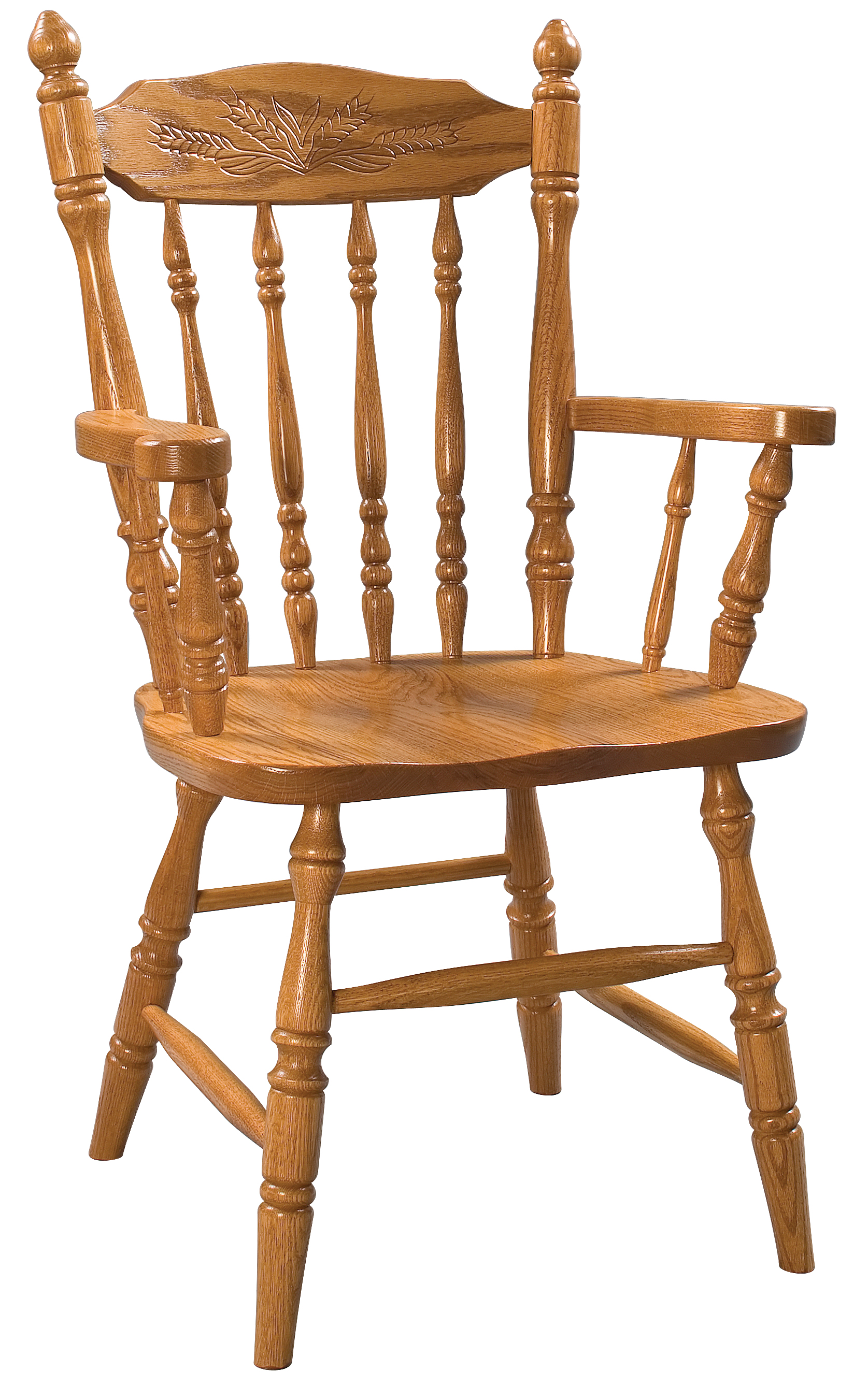 Oak Summer Field Arm Chair Amish Furniture Connections