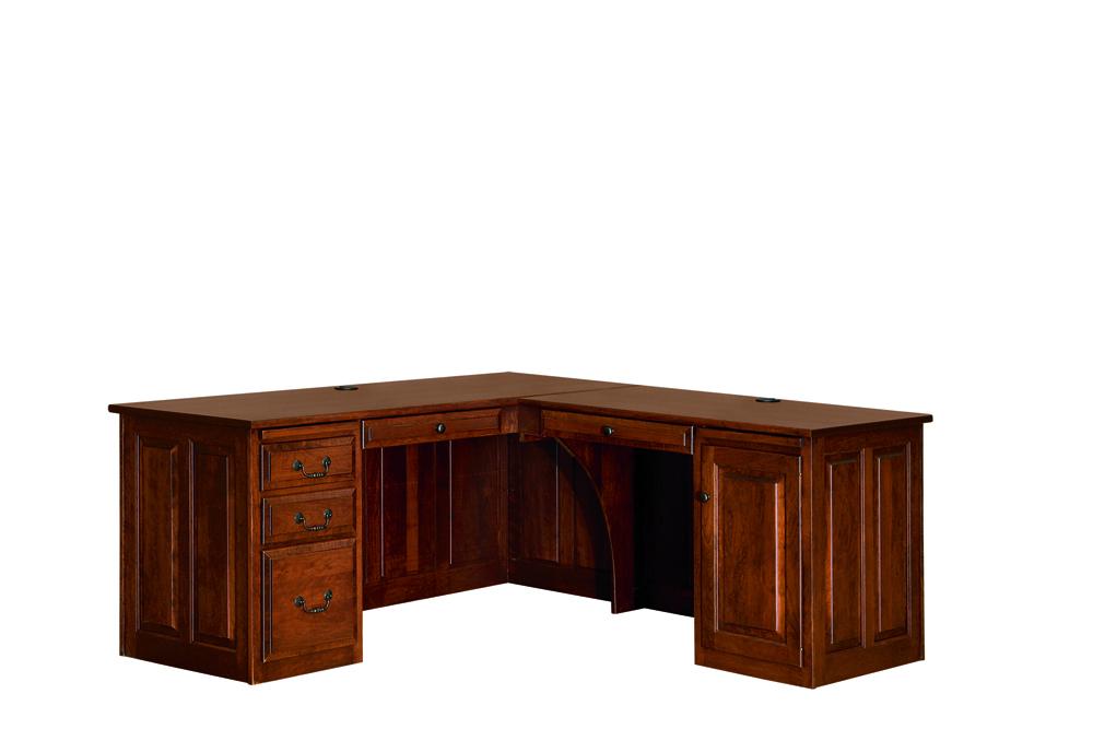 Oak Corner Unit Desks