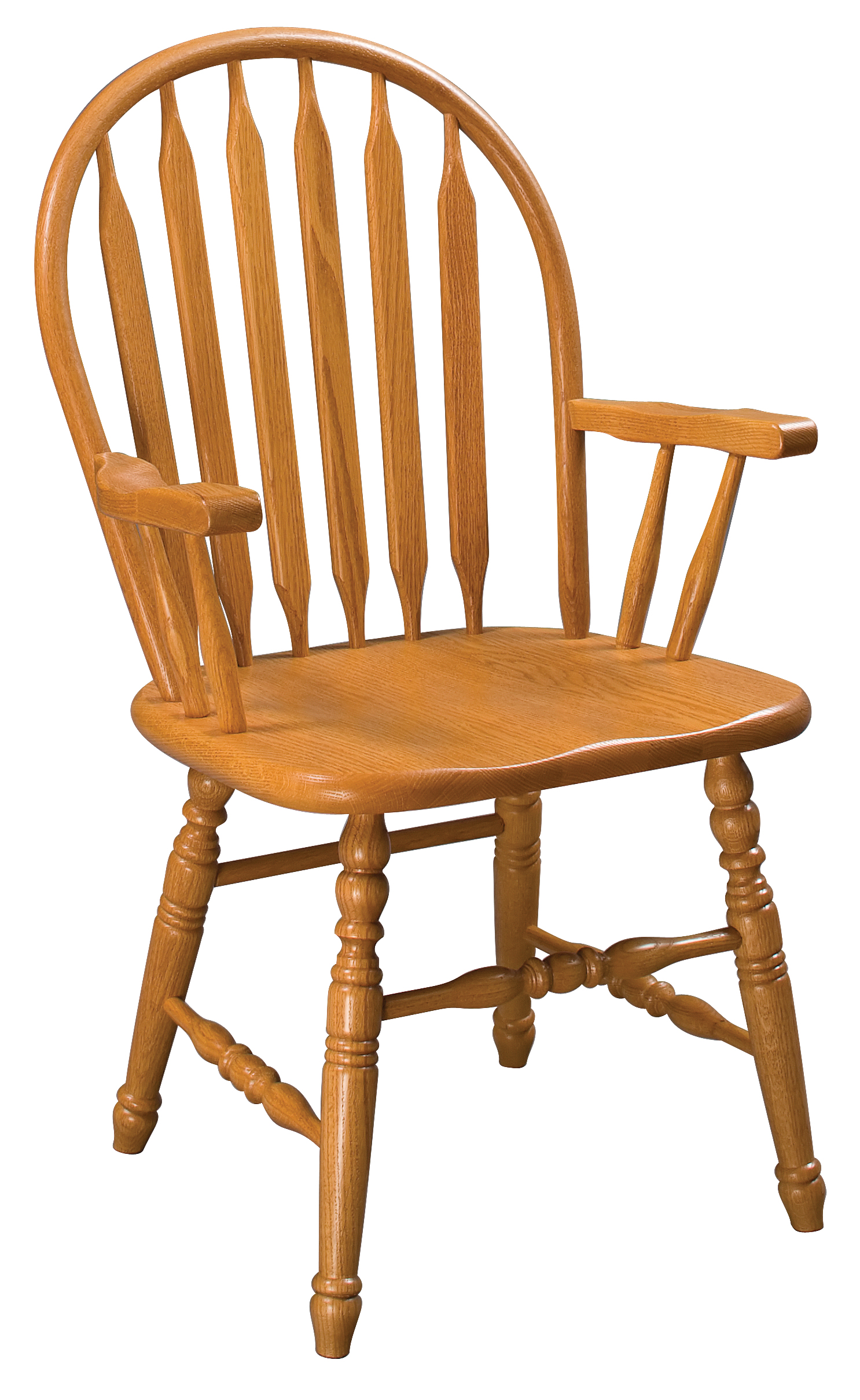 Paddle Back Windsor Arm Chair Amish Furniture
