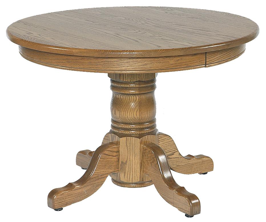 54 X 54 Single Pedestal Table Amish Furniture