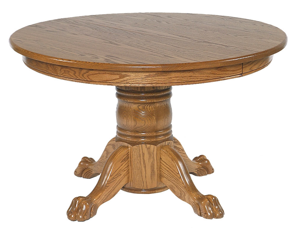 54 x 54 single pedestal table amish furniture for Dining room table 54 x 54