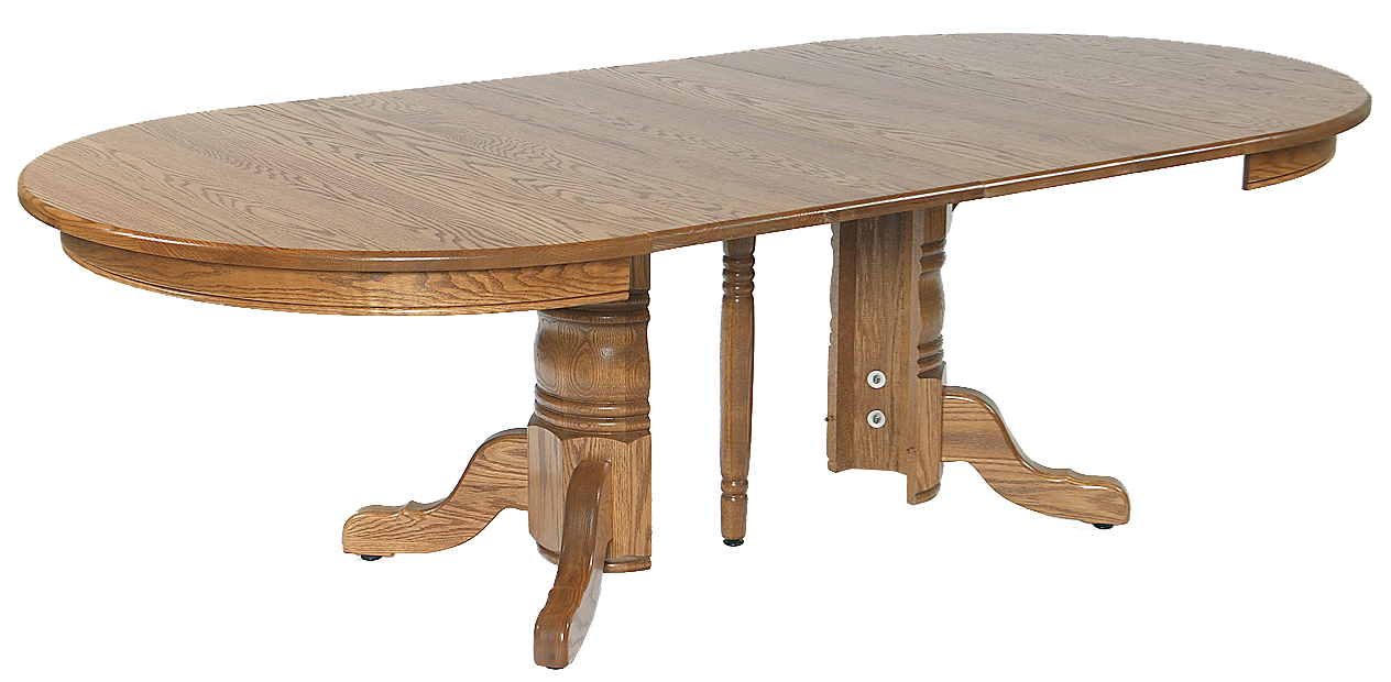 54 x 54 Split pedestal Table Amish Furniture Connections Amish