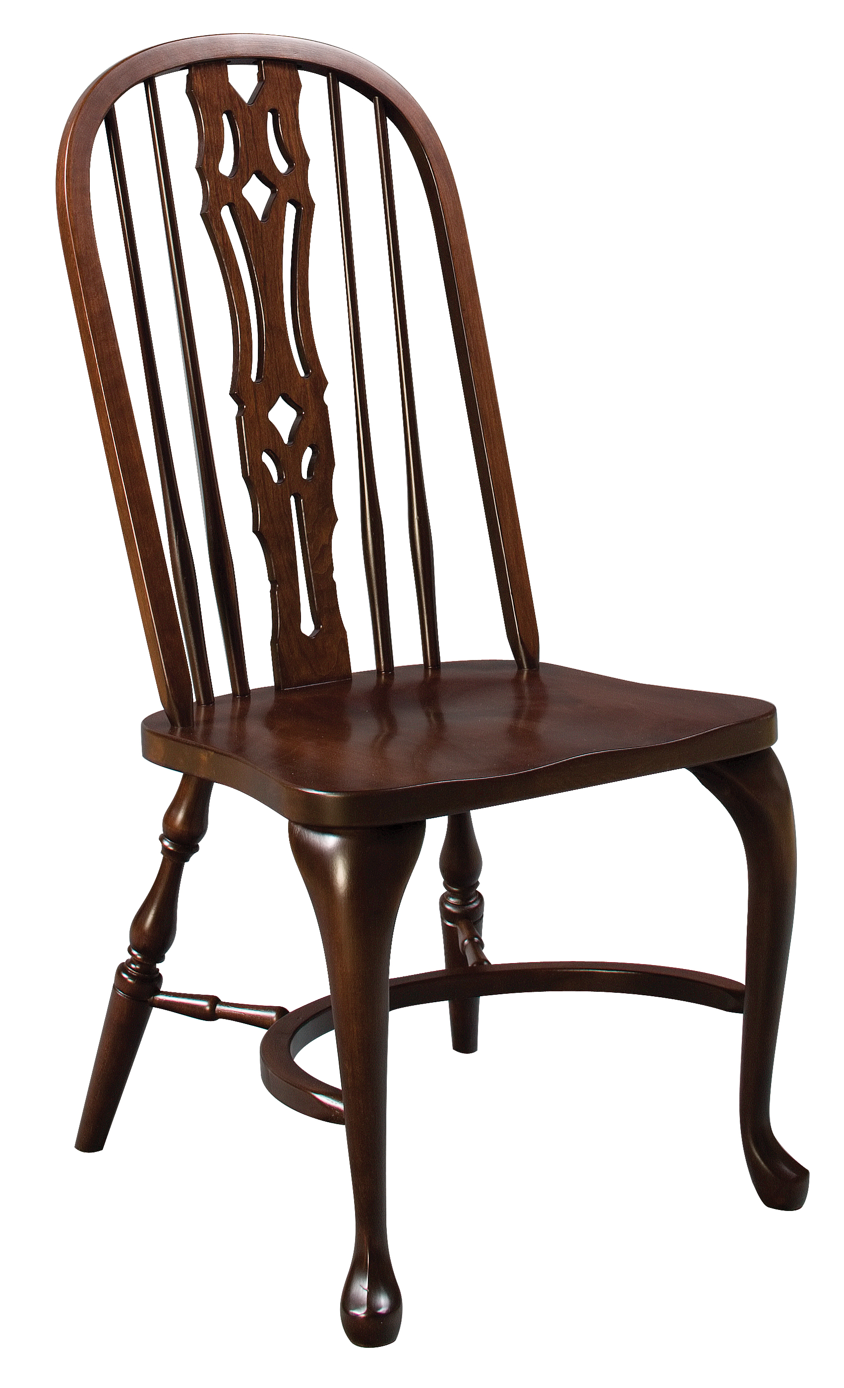 Bow Back Dining Chairs ~ Eh shenandoah bow back side chair amish furniture