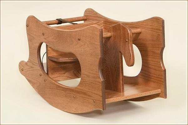 Oak 3 In 1 High Chair Desk Amp Rocking Horse Amish
