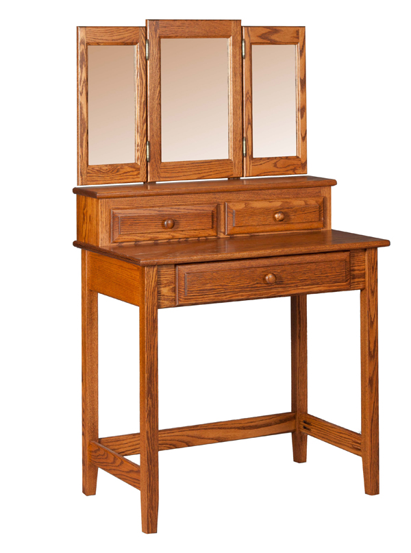 vanity table w drawers mirror mirrors amish