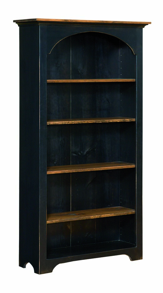 Large Colonial Style Bookcase Amish Furniture
