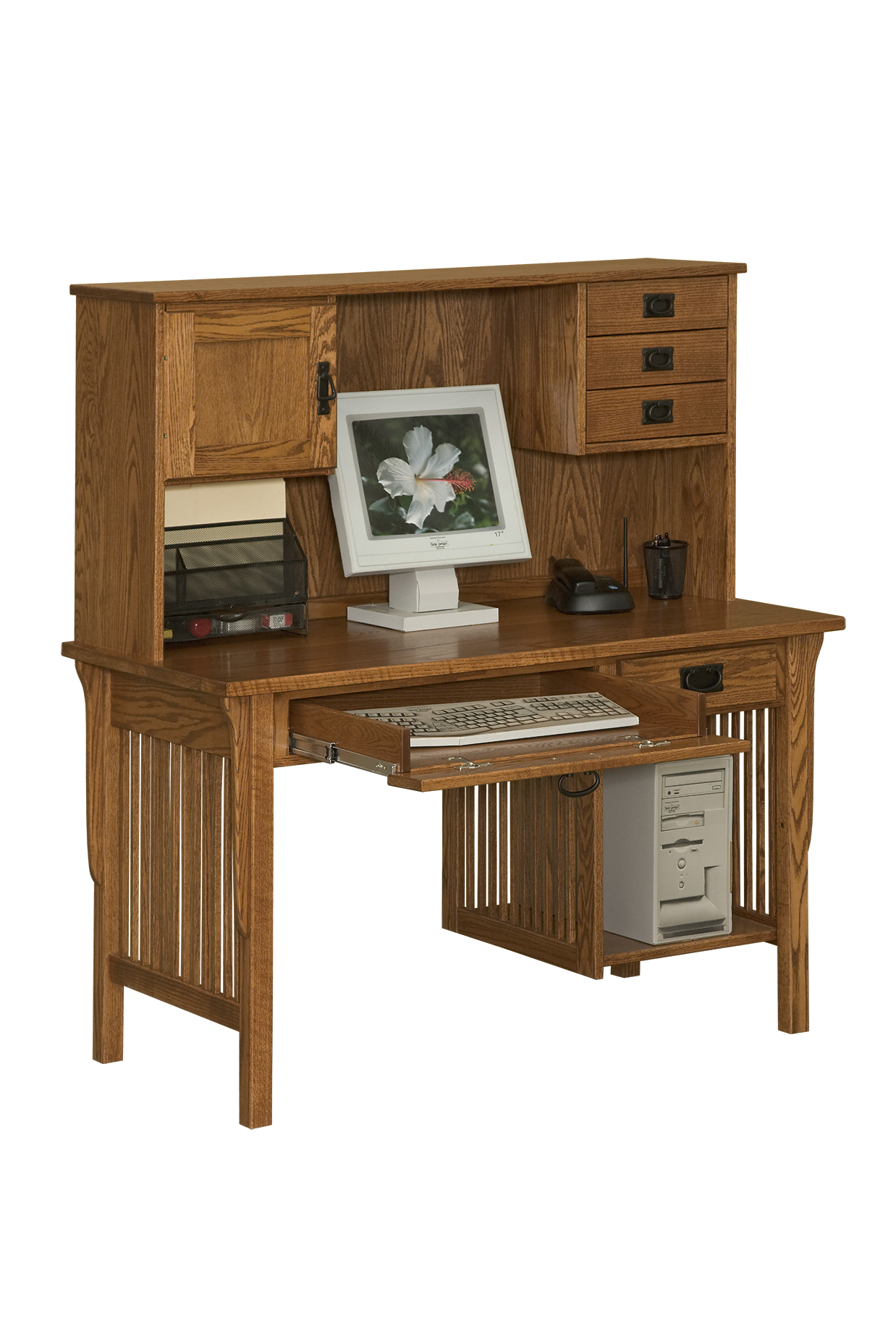 Computer Desk - Amish Furniture Connections - Amish Furniture