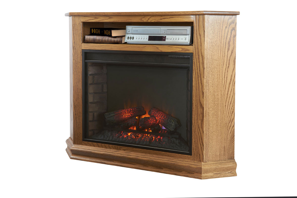 Corner Tv Stand With 28 Quot Fireplace Insert Amish