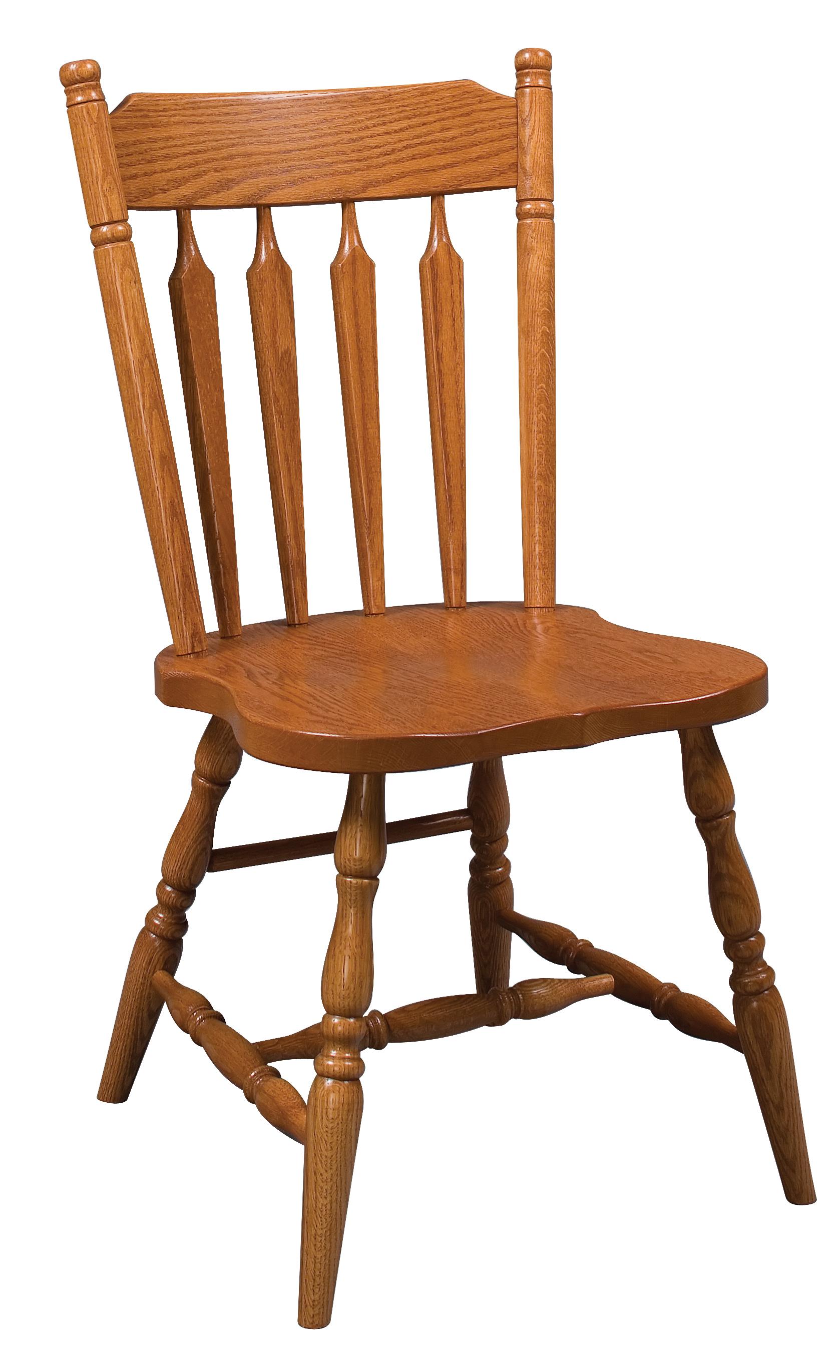 Colonial Arrow Back Side Chair Amish Furniture