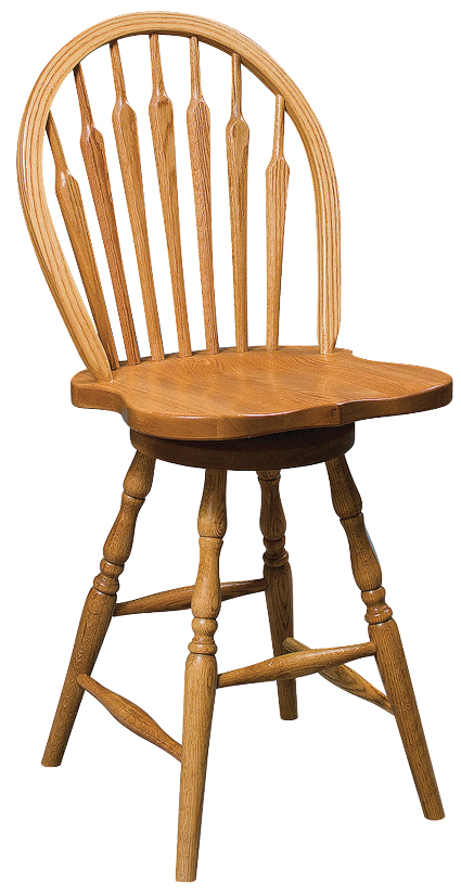 Arrow Back Swivel Stool Amish Furniture Connections Amish Furniture