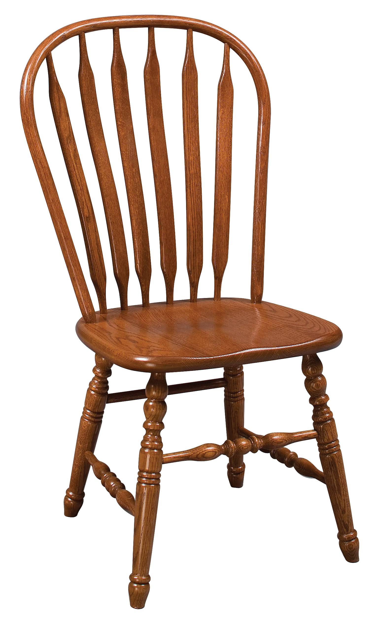 Deluxe Paddle Back Windsor Side Chair Amish Furniture