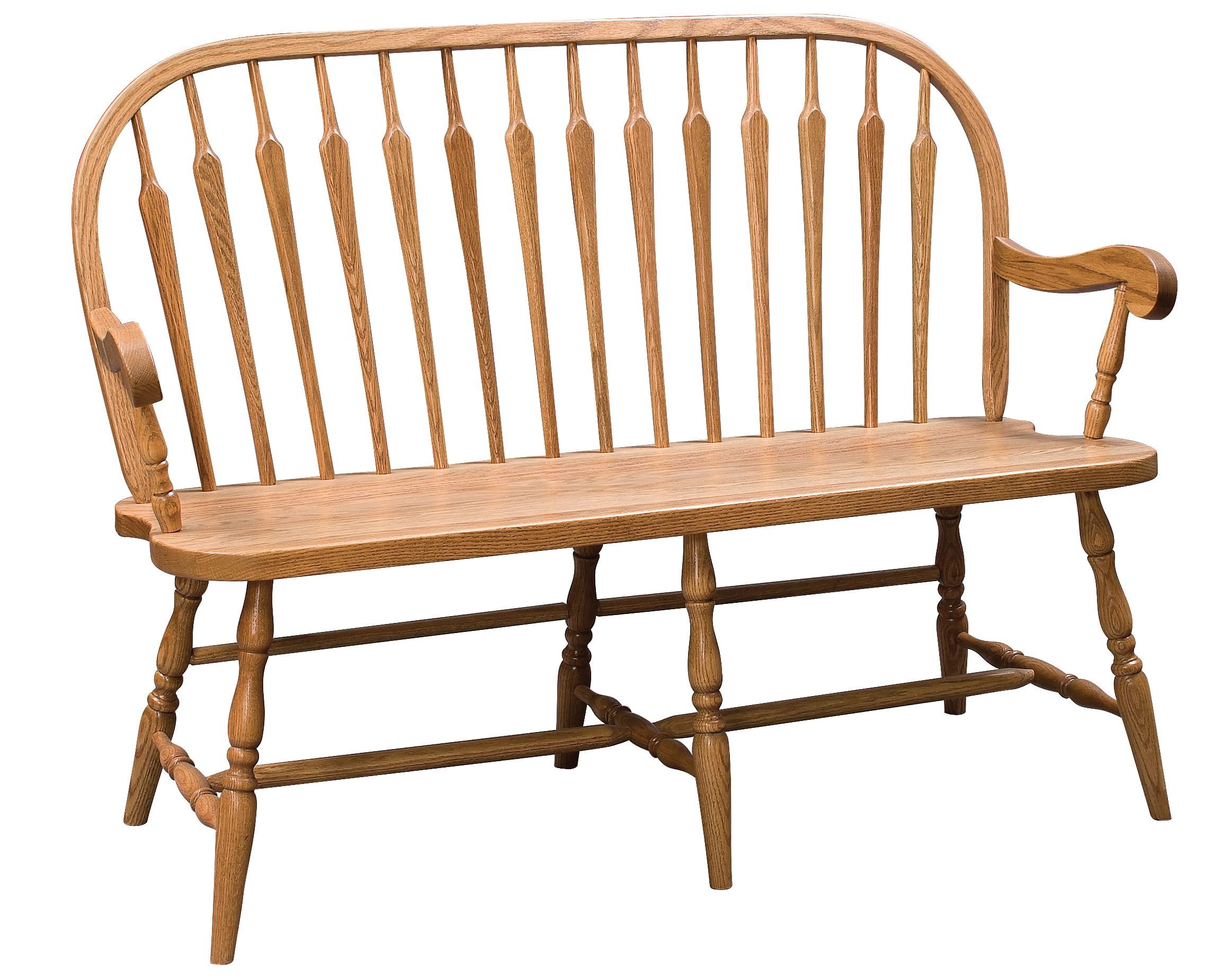 Cool Arrow Back Windsor Bench Amish Furniture Connections Gmtry Best Dining Table And Chair Ideas Images Gmtryco