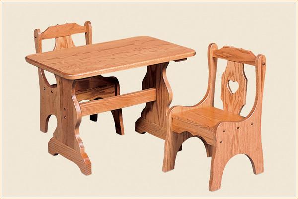 Beau Oak Childs Chair Zoom